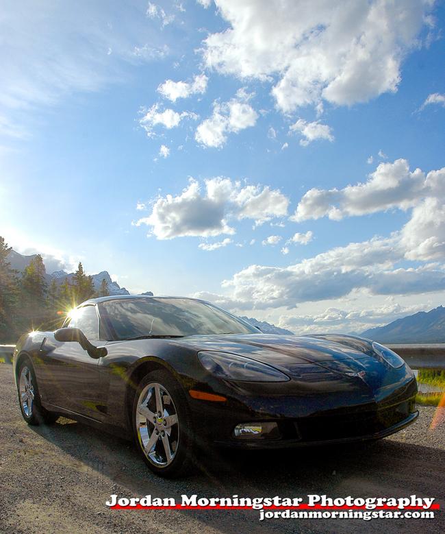 2007 Corvette C7 near Canmore, Alberta