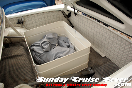 Trunk space in a 1957 Ford Skyliner