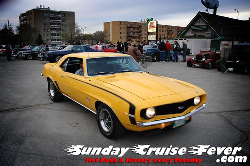 Yellow '69 Camaro SS396