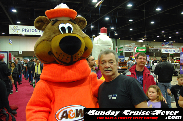 A&W Root Bear with his loyal fans