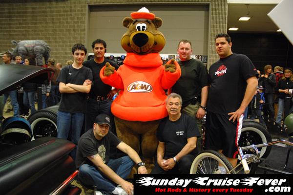 A&W Root Bear with the River City Rat Rods car club