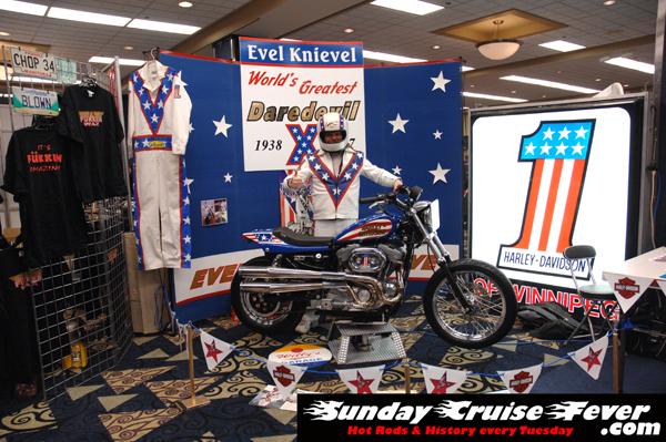 Evel Dave & the Evel Kneivel tribute bike