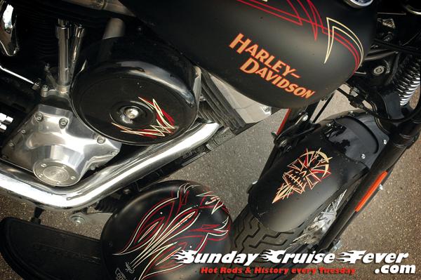 Pinstriped Harley Davidson