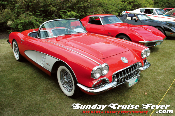 Helene Kuhl's little red 1st-generation Corvette